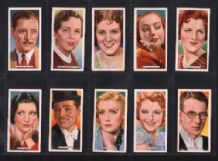 Tobacco cigarette cards Film, Stage & Radio Stars 1935
